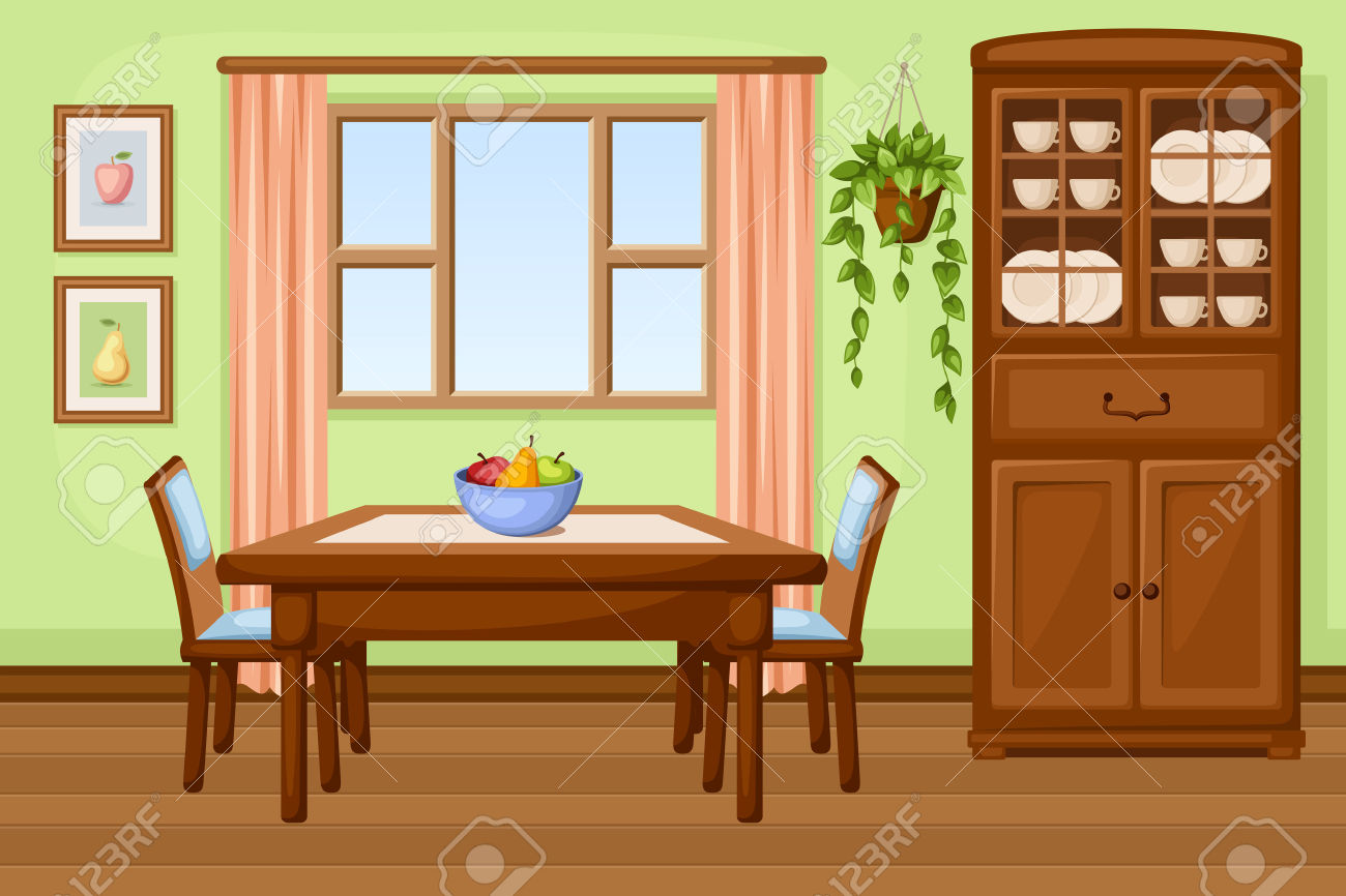 Dining room clipart clipground for Sala de estar animada