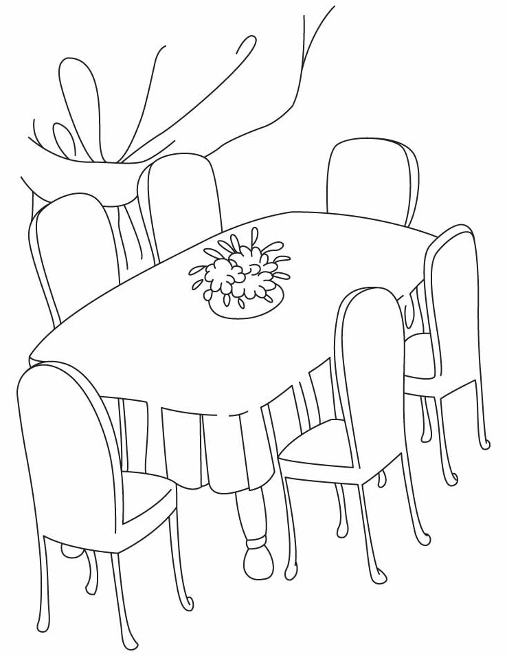 Dining room clipart black and white 12 » Clipart Station.