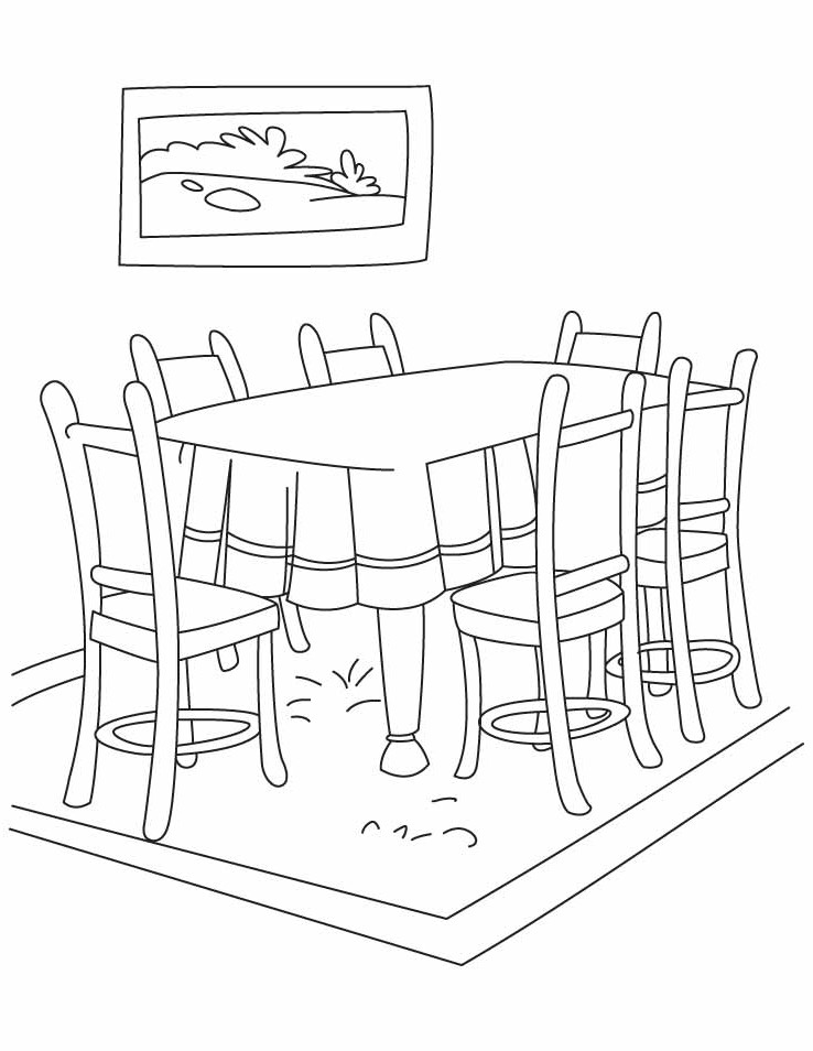 Dining room clipart black and white 10 » Clipart Station.