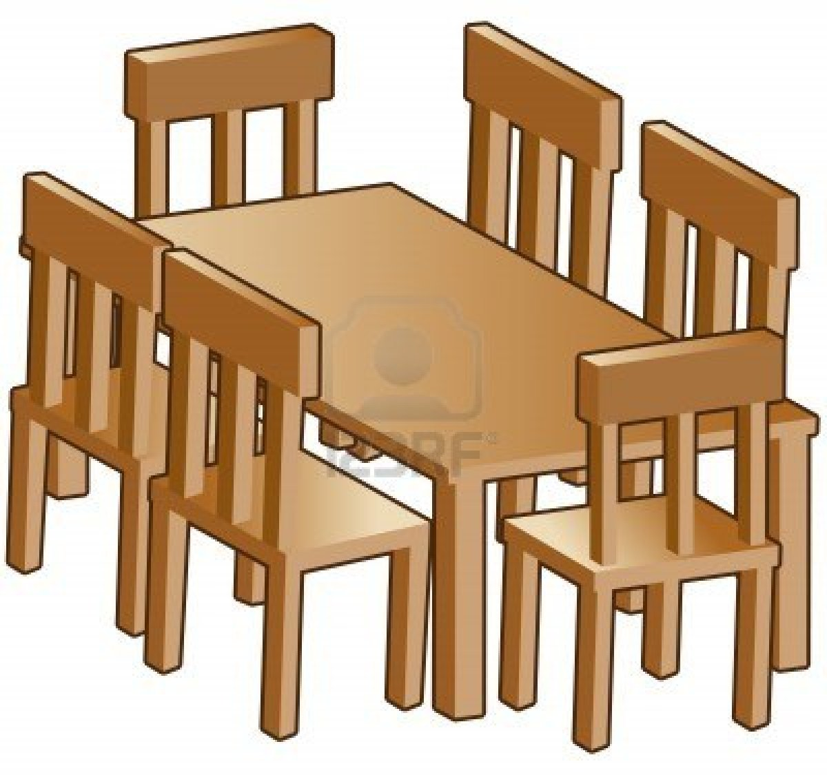 Dining Table Clipart.