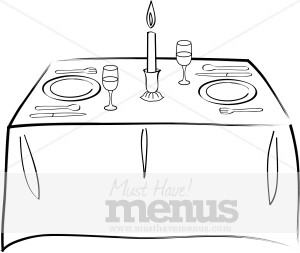 Formal Dining Table Clipart.
