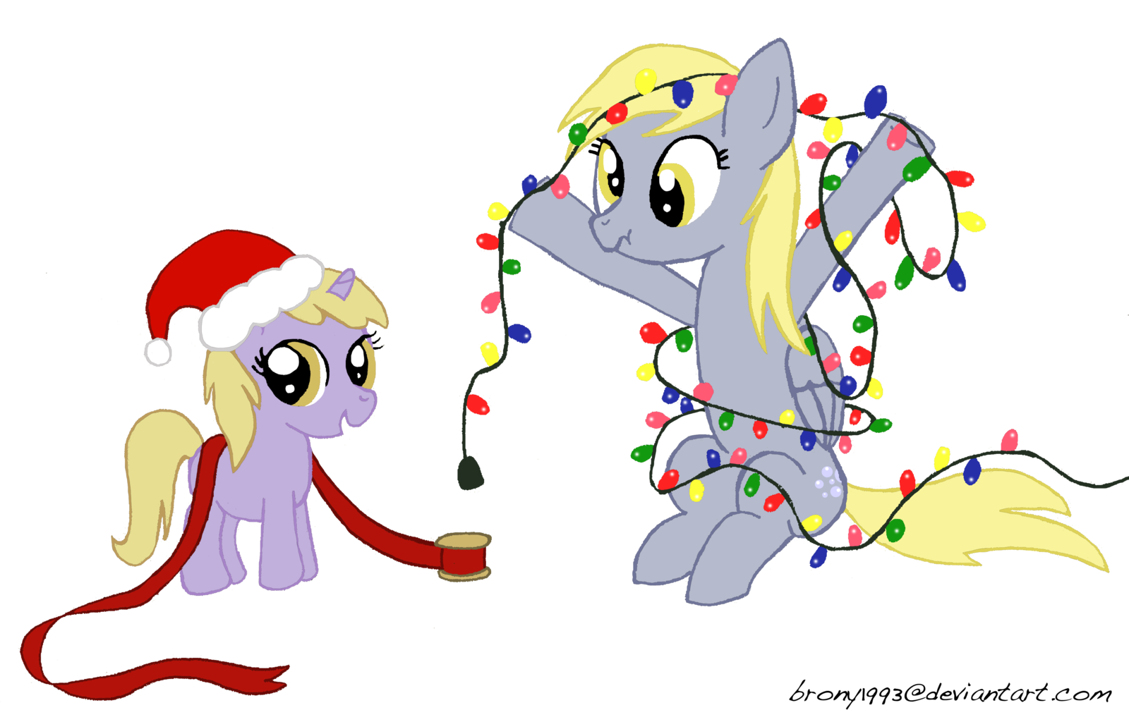 My little pony christmas clipart.