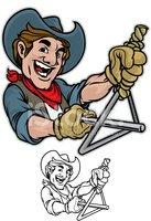 Cowboy Dinner Bell stock vectors.