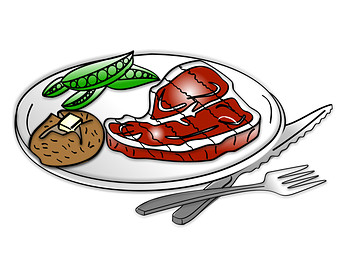 Steak Dinner Clipart.