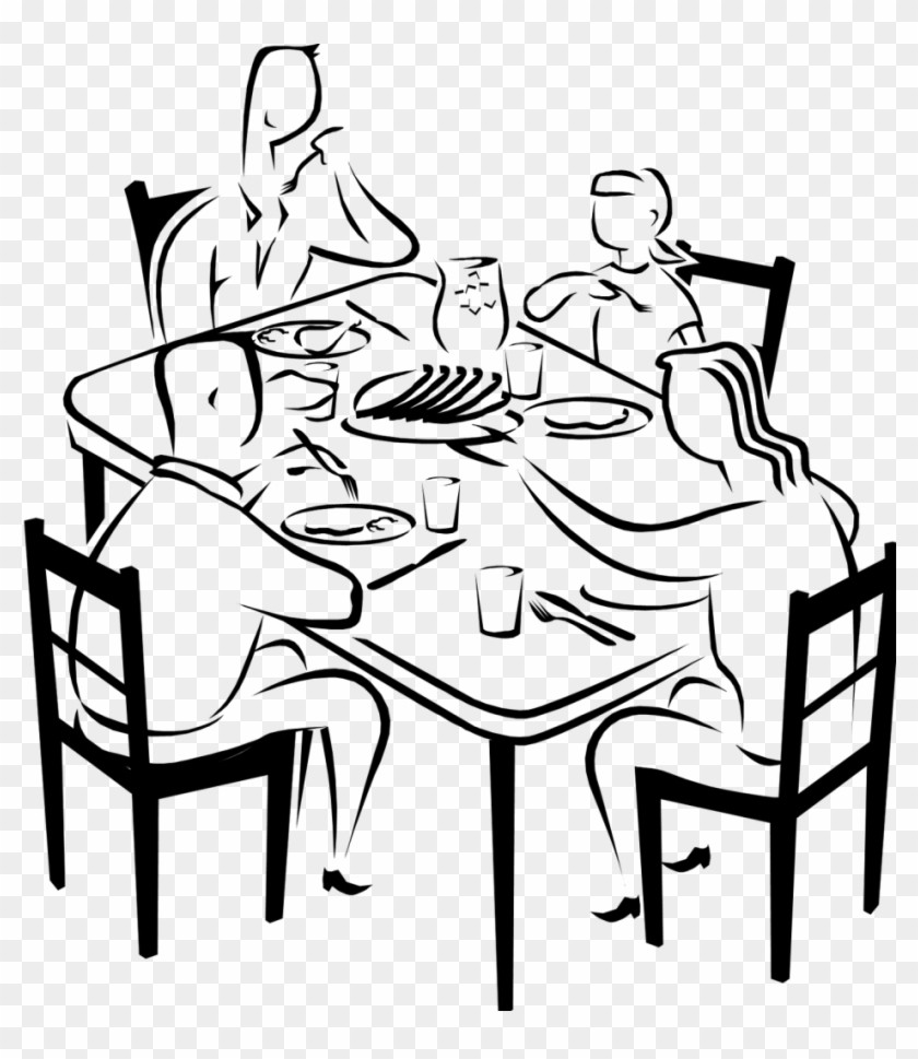 289 2899950 Table Fancy Dinner Clipart Black And White 10 Drawing.