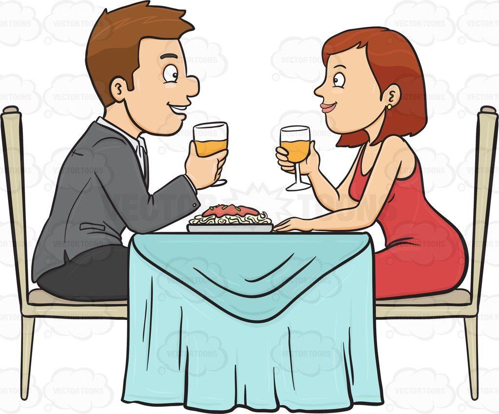 Dinner Couple Clipart.