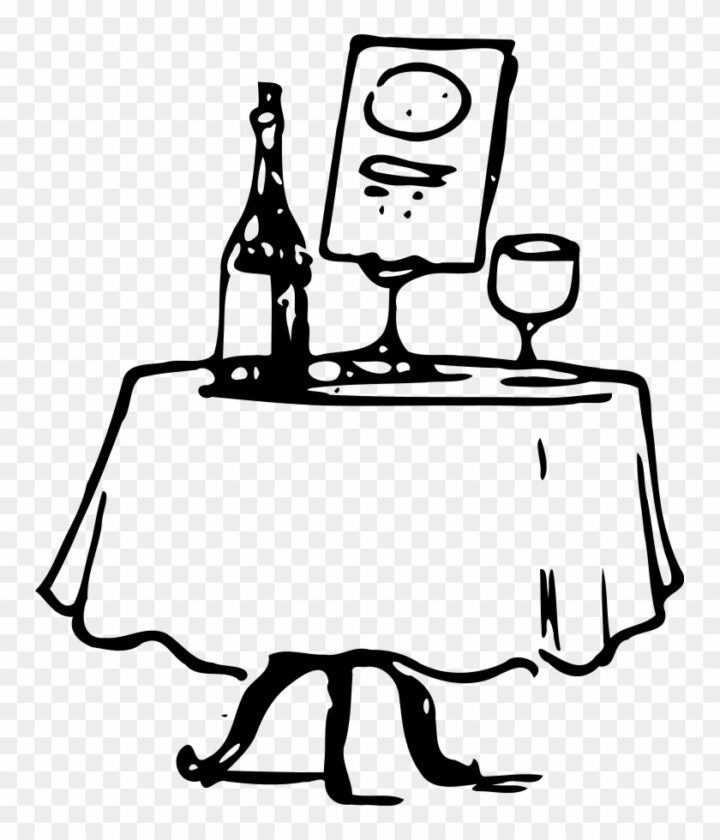 Date Clipart Fancy Dinner Table Clipart Image Provided.