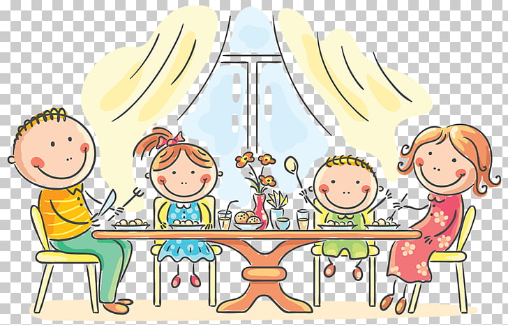 Dinner Family Eating, Family PNG clipart.