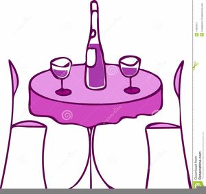 Dinner For Two Clipart.