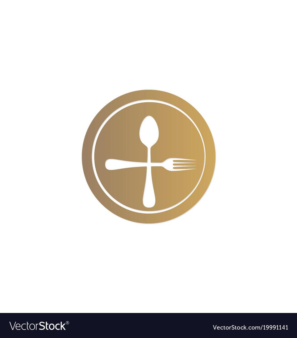 Dinner spoon food logo.