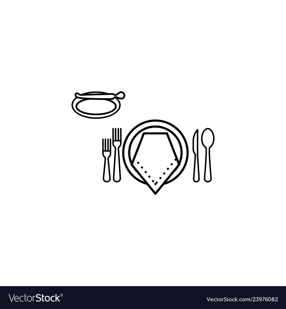 Formal dinner icon can be used for web logo.
