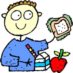 School dinner clipart.