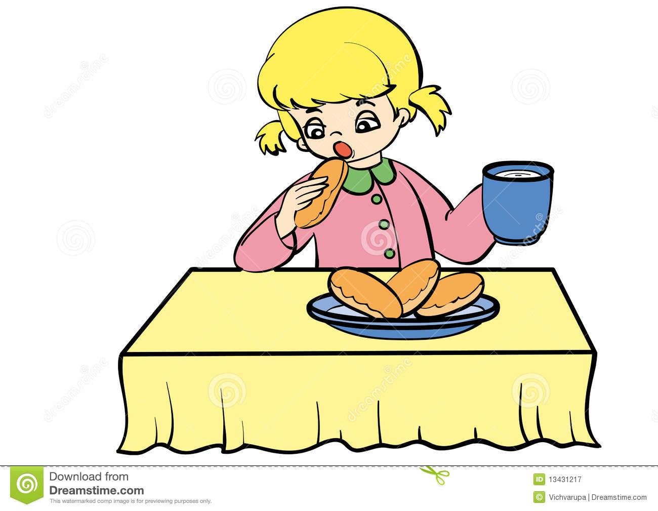Eating Dinner Clipart.