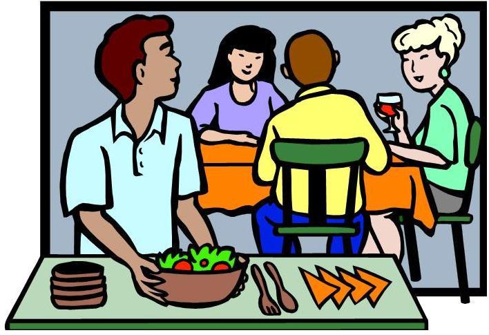 Clip Art Of Dinner Meals Clipart.