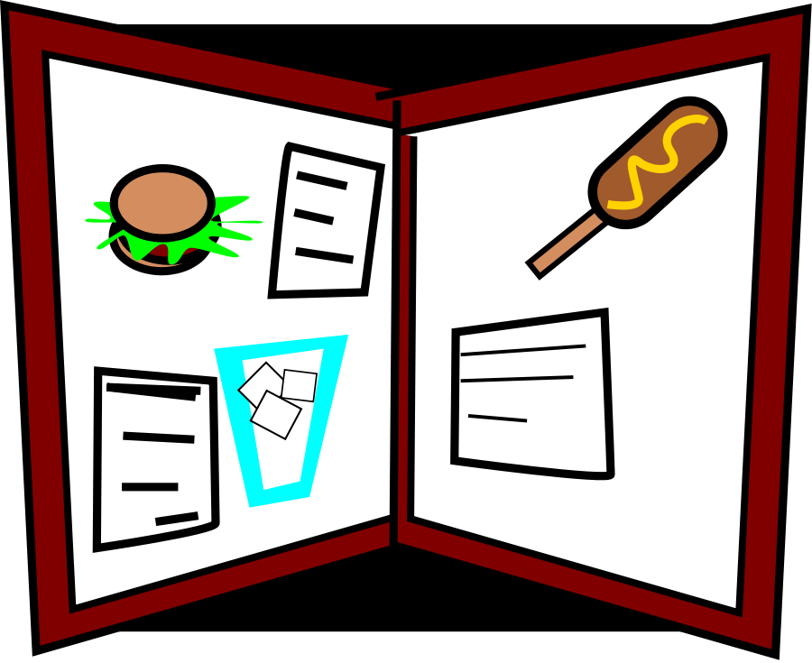 Dinner Menu Clipart.