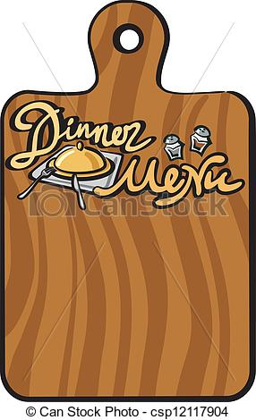 Dinner menu clipart images.