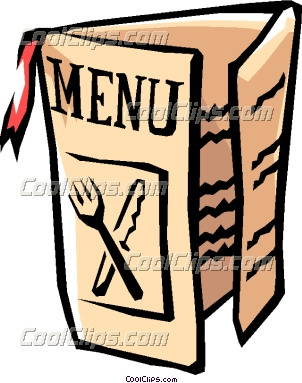 Food menu clipart free.