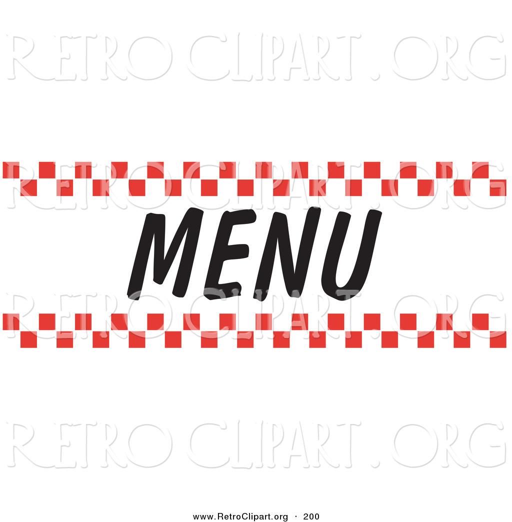 Dinner Menu Clipart.