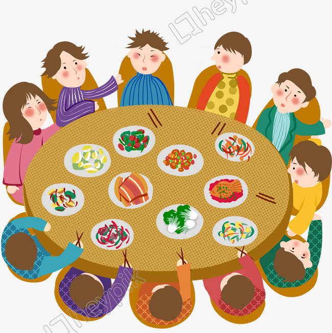 Download Free png New Year 2019 Party Dinner Food Chat image PNG.