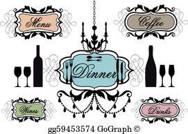 Dinner Party Clip Art.