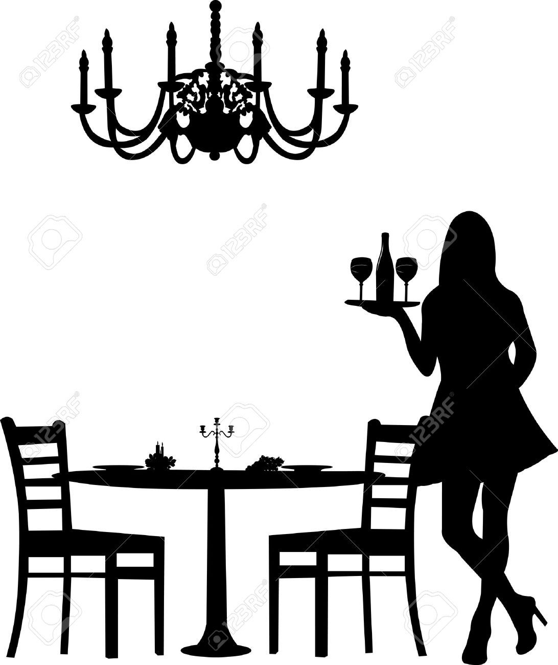 Dinner Party Stock Illustrations, Cliparts And Royalty Free.