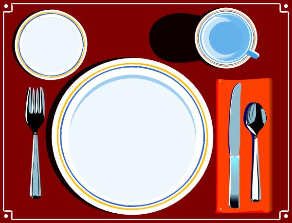 Dinner table setting clipart 2 » Clipart Portal.