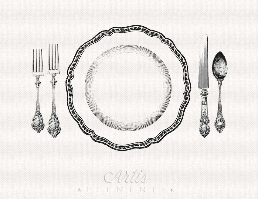 Download dinner with dickens by pen vogler clipart Table setting.