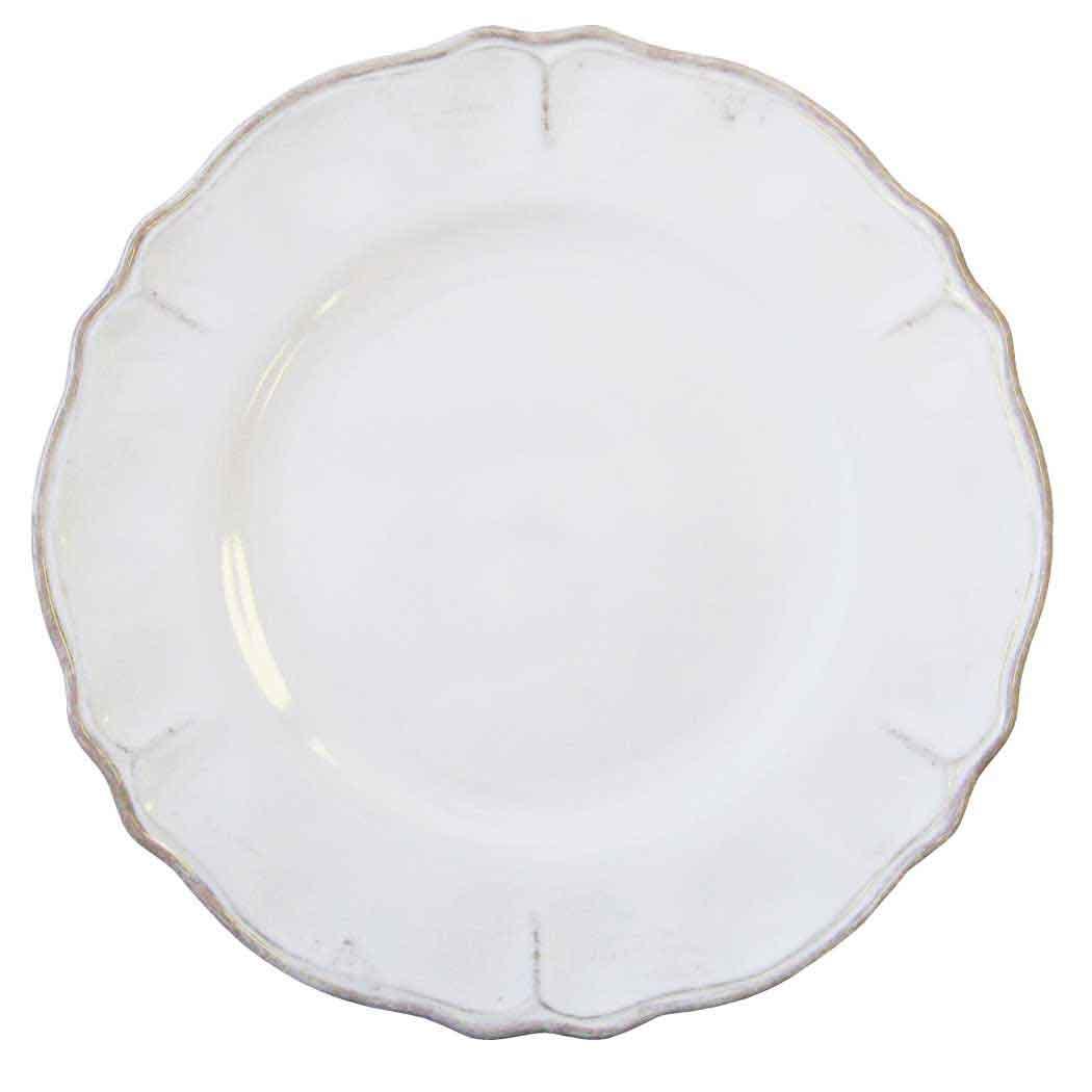 Le Cadeaux Rustic Antique White Dinner Plate.