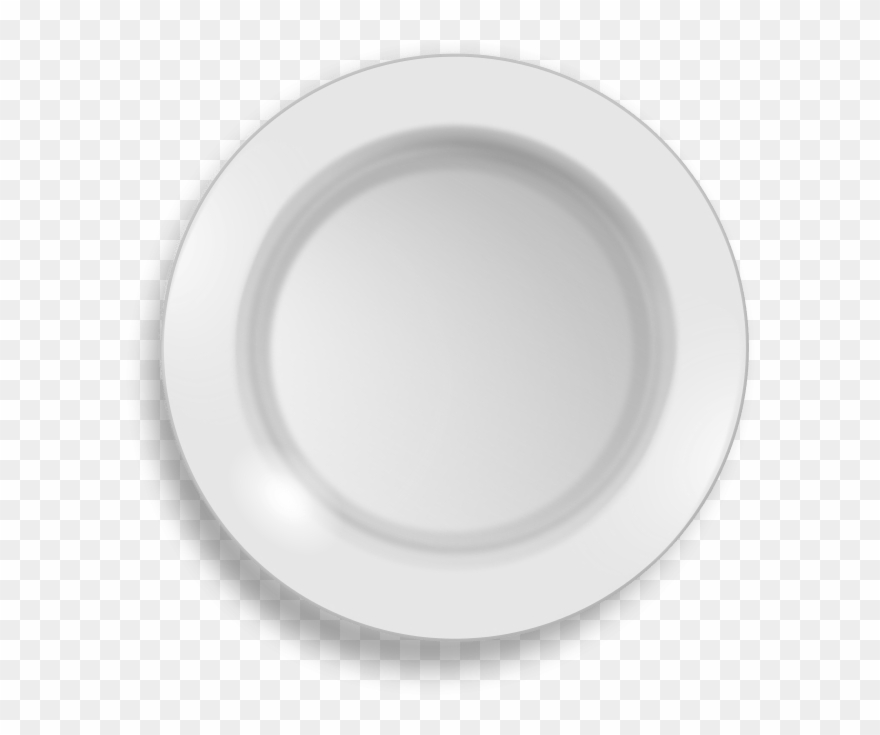 Dinner Plate Black And White Clipart.