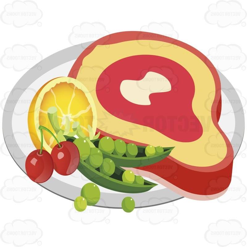 Dinner Plate With Food Clip Art (36 ).