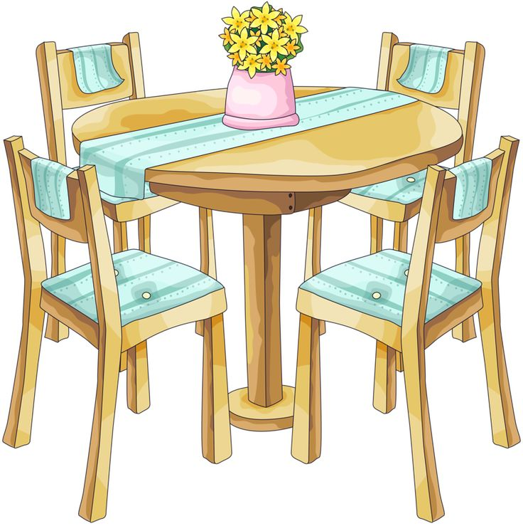 Dining Table Clipart & Free Clip Art Images #33072.