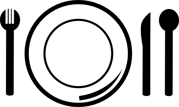 Lunch Clipart Black And White.