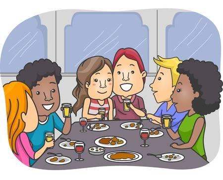 Friend Dinner Cliparts.