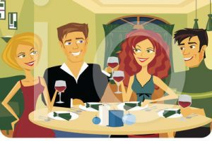 Dinner with friends clipart » Clipart Portal.