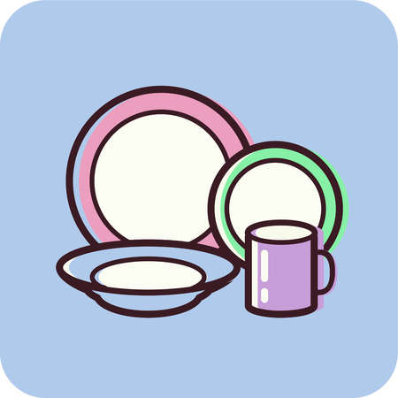China Dishes Clipart.