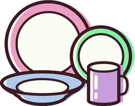 Dinnerware Clipart.