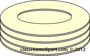 Dinnerware Clip Art.