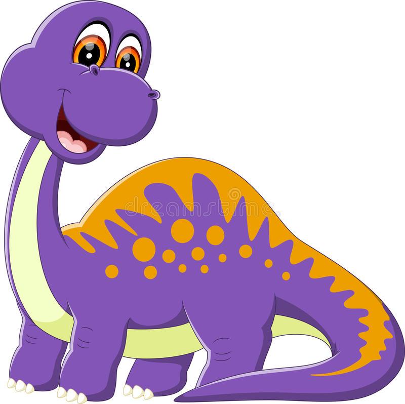Cute Dinosaur Cartoon Stock Illustrations.