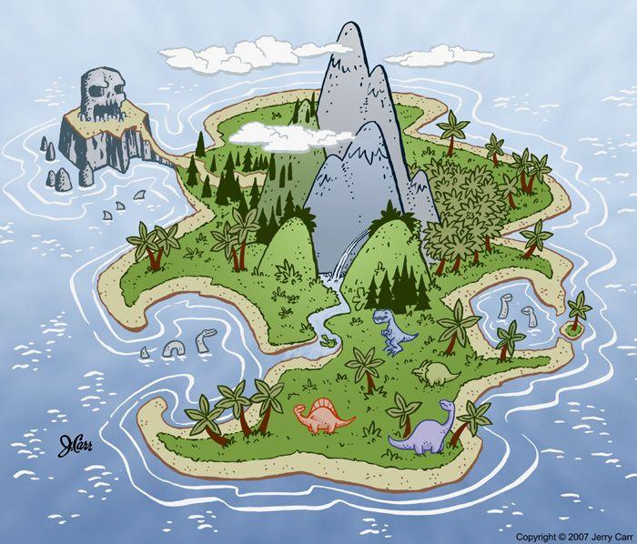 Dinosaur Island by ~jerrycarr on deviantART.