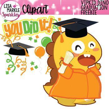 FREE VIPKID Graduation Dino Clipart.