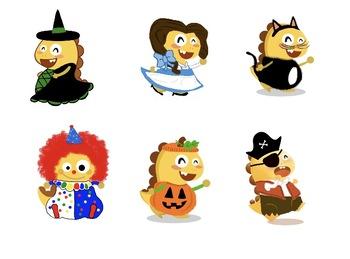 VIPKID Halloween Dinos PNG.