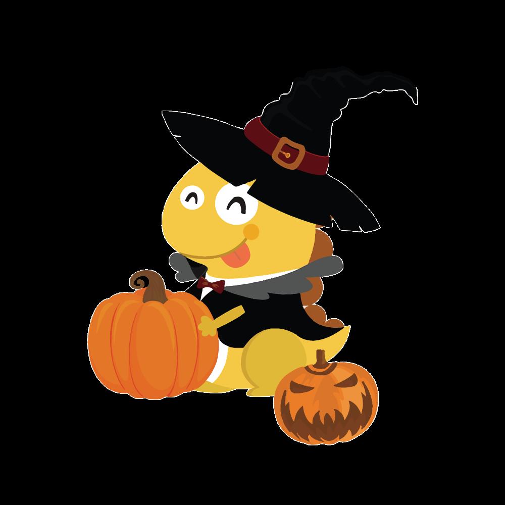 Halloween Dino Pennant.