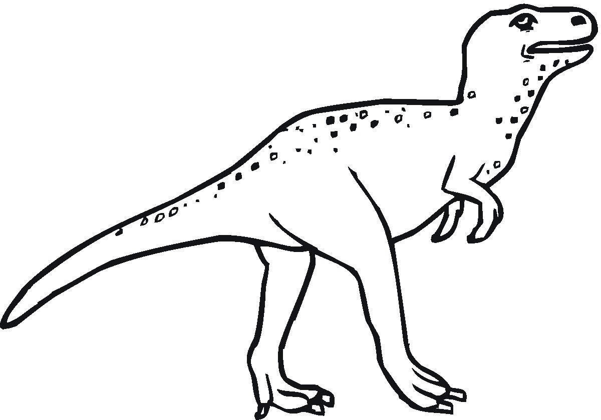 Dinosaur black and white clipart 6 » Clipart Portal.