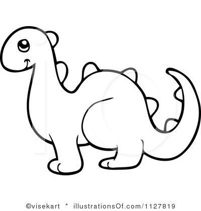baby dinosaur clipart outline #11.