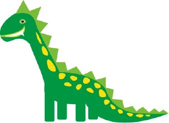Yellow Dinosaur Clipart.