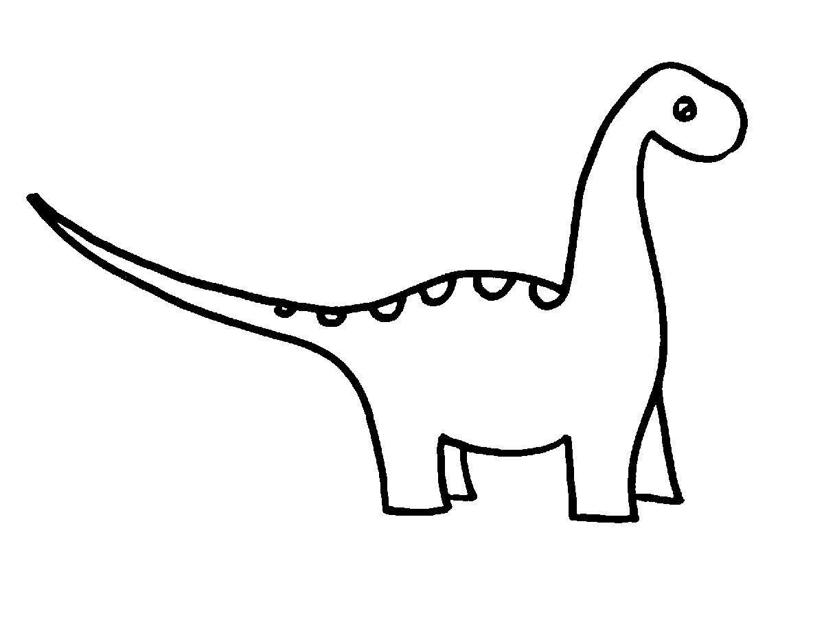 Easy Clipart Dinosaur.
