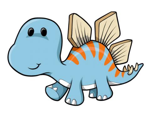 Cute Cartoon Dinosaurs.