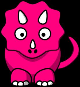 Pink Baby Dinosaur Clip Art.