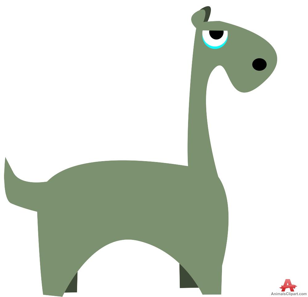 Comic Dinosaur Clipart.