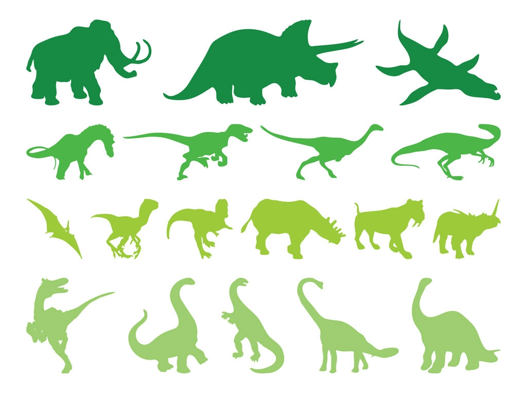 Free Dinosaur Silhouette Clipart.
